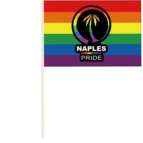 NAPLES PRIDE MINI FLAG