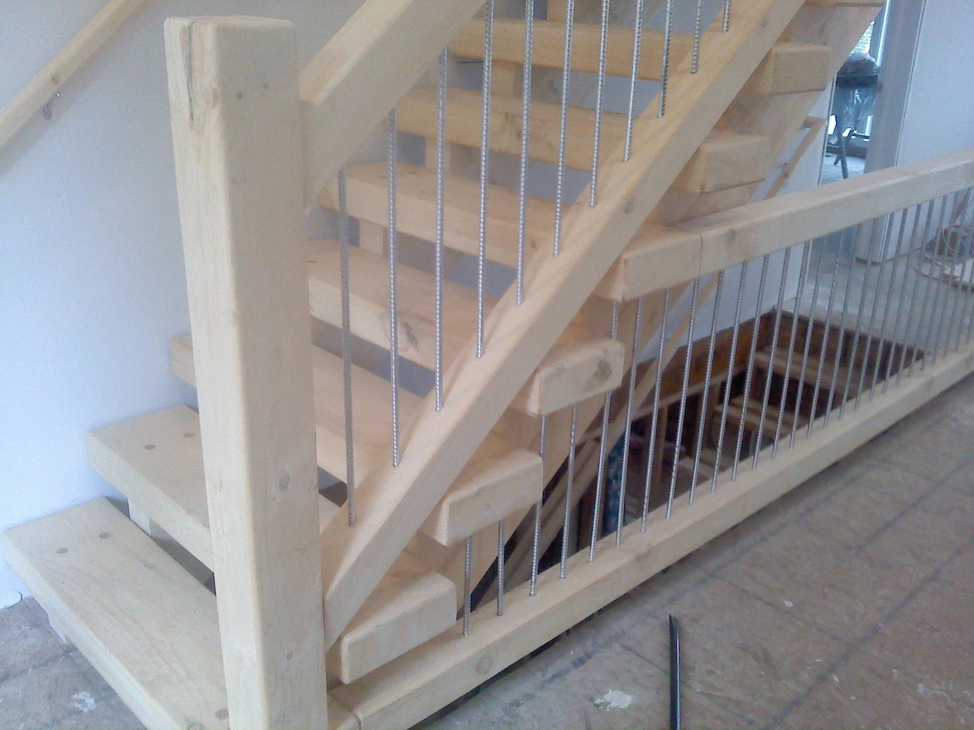 Timber Frame with Silver Iron Spindles