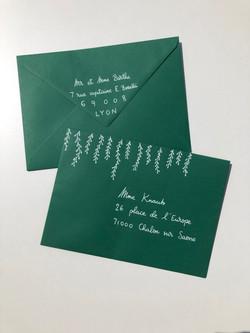 Enveloppe manuscrite personnalisée