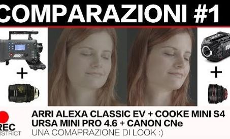 ARRI Alexa Classic EV e URSA Mini PRO 4.6k look a confronto.