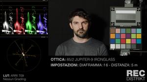 Schermata test resa cromatica ottiche