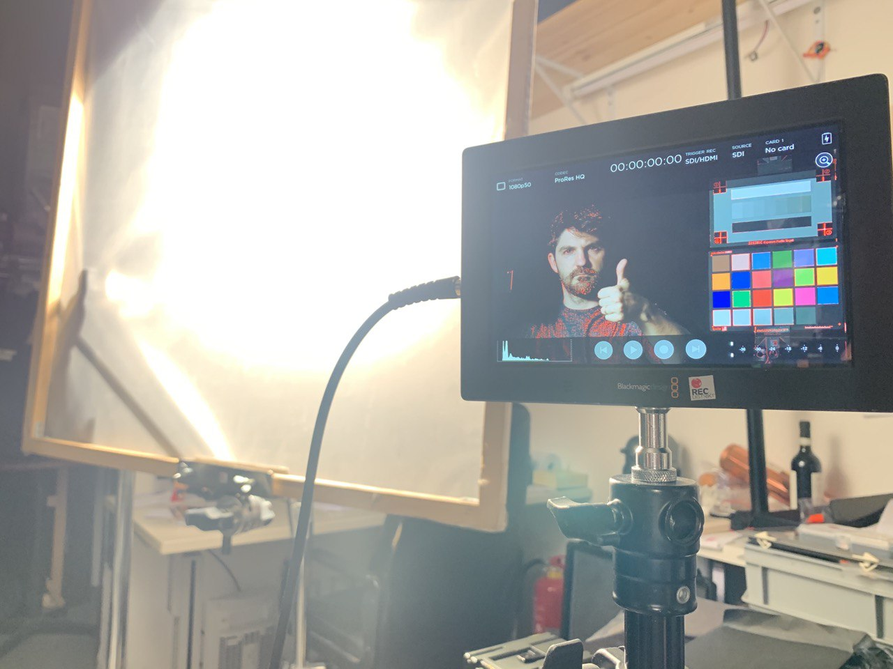 Backstage light and monitoring