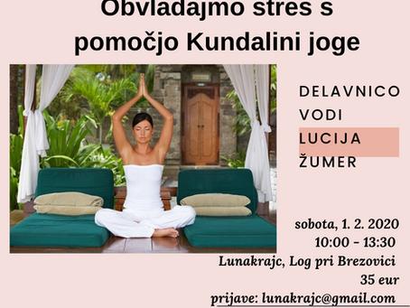 [Dogodek]: Obvladajmo stres s pomočjo Kundalini joge