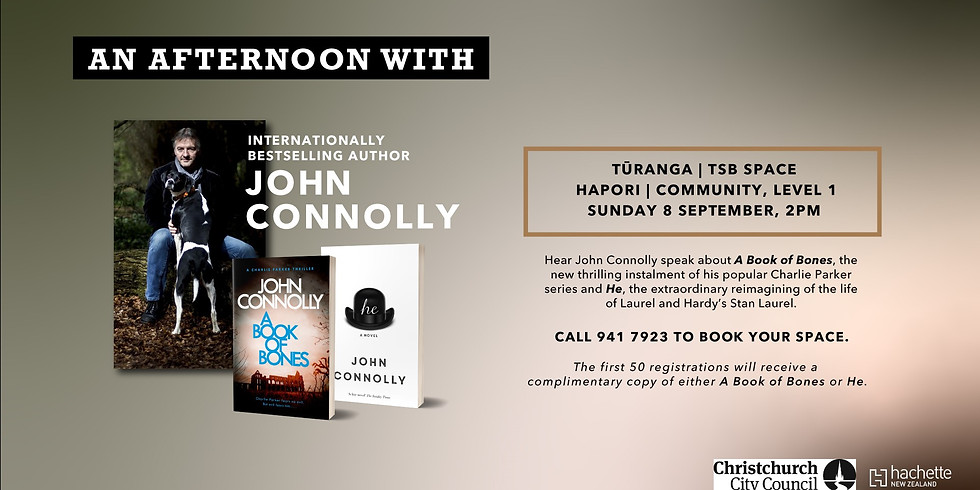 Christchurch, NZ — An Afternoon with John Connolly