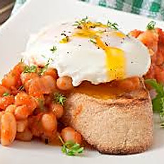 Poached Eggs, Beans & Toast