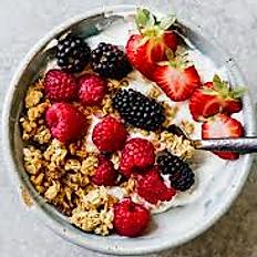 Granola Fresh Fruit and Yogurt