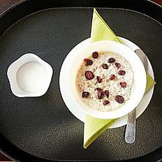 Tartan Porridge with Berries & Honey