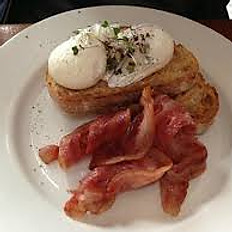 Maple Bacon & Scrambled or Poached Eggs