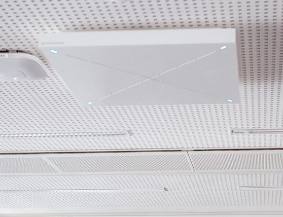 Most advanced audio settings in-ceiling mic - Aspen