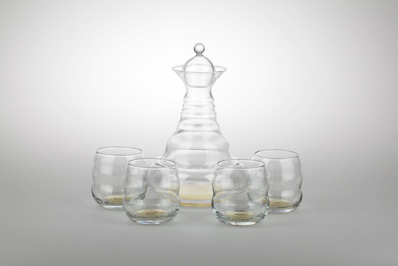 Karafa 1,3l v sadě se sklenicemi