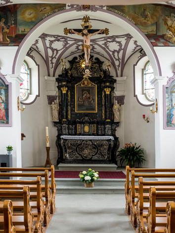 Weinrebenkapelle von innen