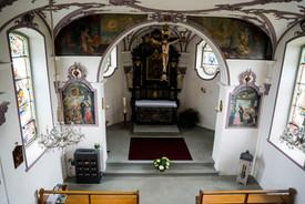 Kapelle innen von Oben