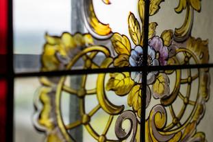 Fensterscheibe in der Kapelle