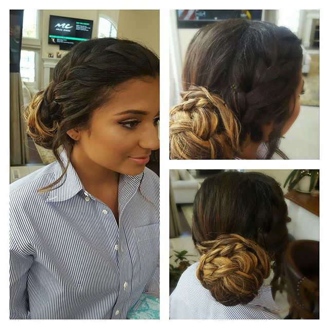 Proms are still kicking! #promhair #prom #updos #westwindsor _michelleeliseartistry makeup by _miche