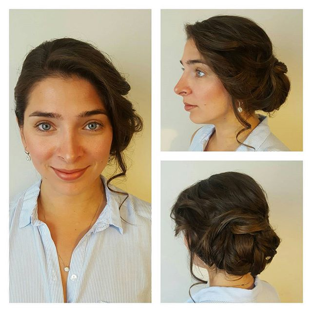 My beautiful jen! _jennie_pen  we did a soft elegant updo for a wedding she attended today! #softupd
