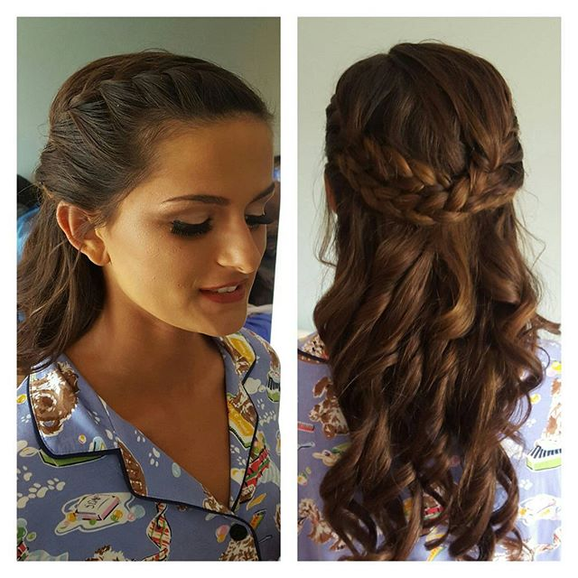 Gorg. French braids with soft waves. Love this look.jpg