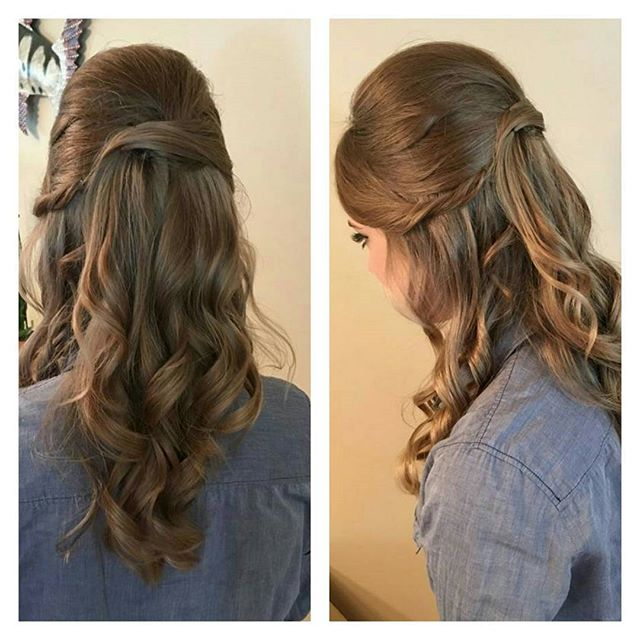 More Prom hair! ✌💕💄#halfup #promhair #prom2k16