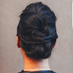 Textured braided updo _#braidedupdo #updo #modernsalon_#hair #texture #njhair #hairstylist #newjerse