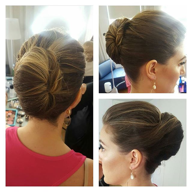 Textured French twist by me #bridesmaid #bridalhair #updo #njhair #njhairstylist makeup by _mrandamu