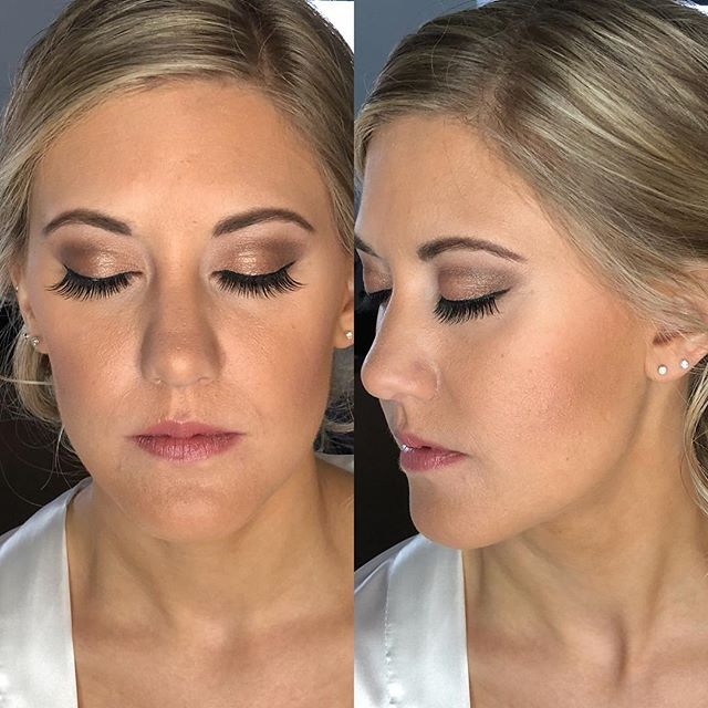 Bridal makeup on Corinne! 💕👰⭐️ makeup by Nicole #mua #njbride #bridalmakeup #denvillestudio #nofil