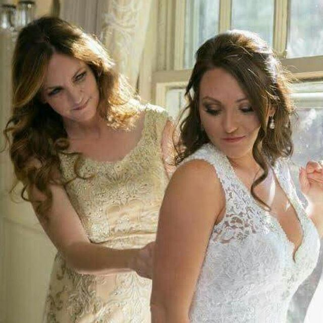 What a beautiful photo of this pretty Bride and her mom we worked with this past fall! I get to call