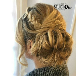 Up + up dos 💃🎀🎉hair by Nicole #updo #njsalon #njhair #allstylingstudio #hairpics #braids #braidup
