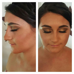Bronze goddess! Prom makeup by me! #prom2016 💄👀💗