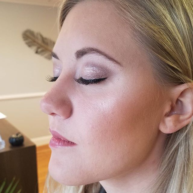 Bridal trial makeup from last week! A natural glow for this beauty! 👸👰makeup by Nicole#bridalmakeu
