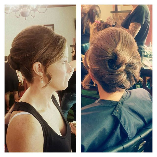 More bridesmaid updo's!! 💗 #updo #njhair #timeless #beauty #newjersey _bombshellbridal