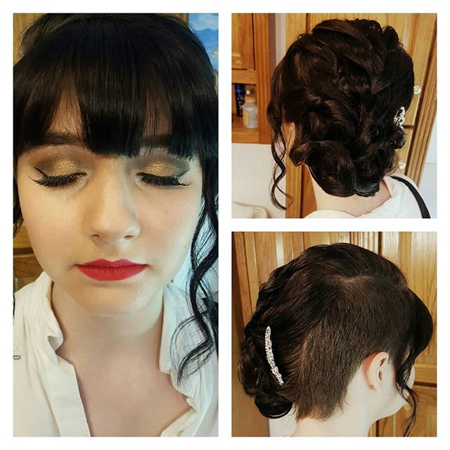 My prom doll Julia! Hair and makeup by me 💄⚘ #promhair #prom #makeupartist #prommakeup