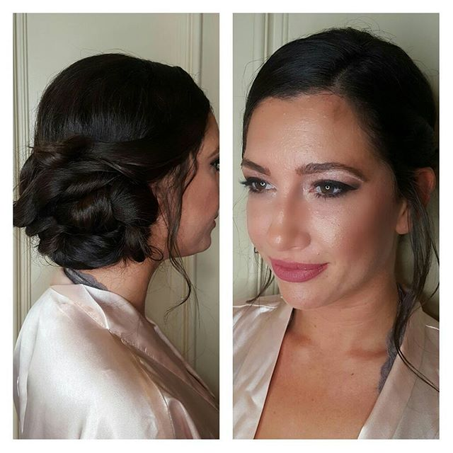 Hair and makeup on this beauty bridesmaid _lyriescinto _A real life doll 💋💄❤ #hairandmakeup #hairs