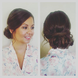 Another bridesmaid updo!  I could do this all day! Makeup by _cidontneedthis °_°_°_°_#bridesmaids #b
