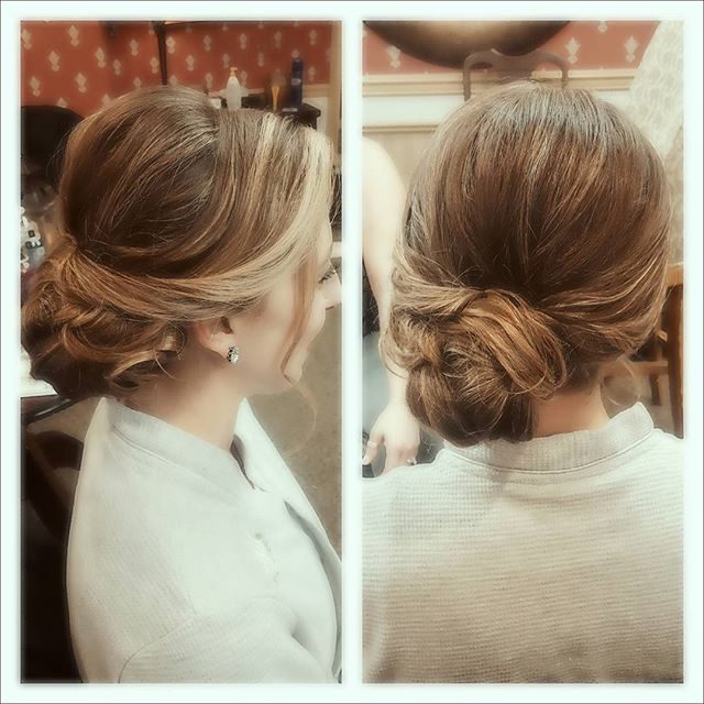 More bridesmaid hair from this morning! #bridesmaid #updo #nj