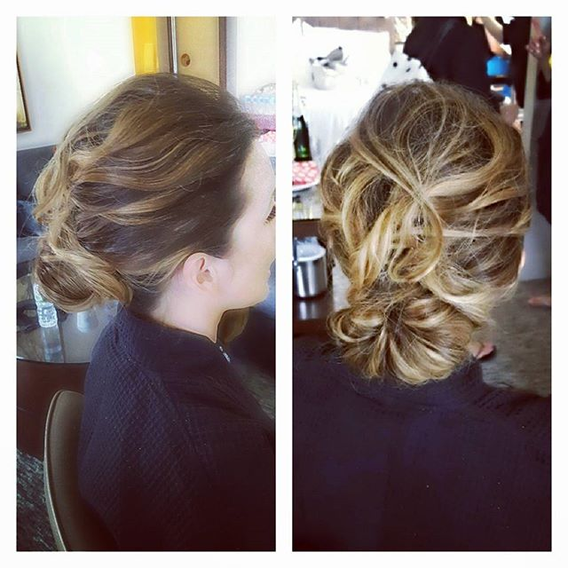 Wedding season is still going strong! Textured natural updo #bridesmaidhair #updo #njhair _michellee