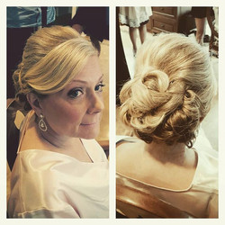 makeup by _michelleeliseartistry thanks for having me on the team, xo #njstylists #weddinghair