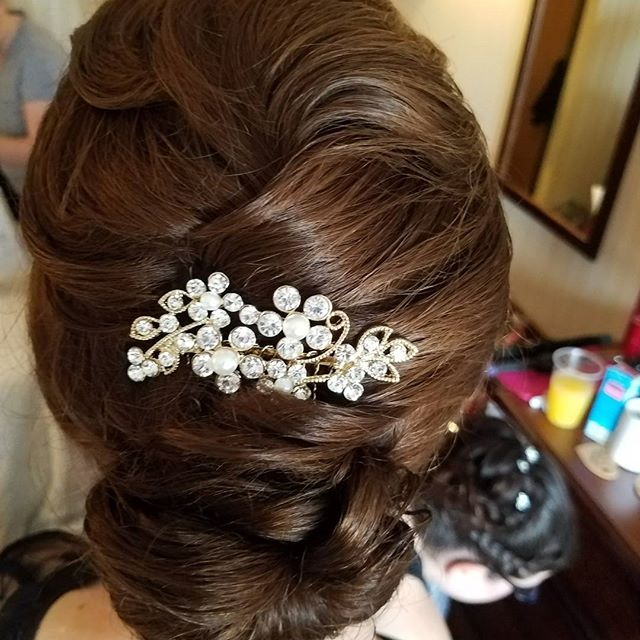 Mother of the bride updo! 💗💎 #mob #weddinghair #motherofthebride #updo #denville #njhair #njstylis