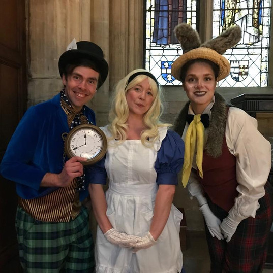 Mad Hatter, Alice and March Hare