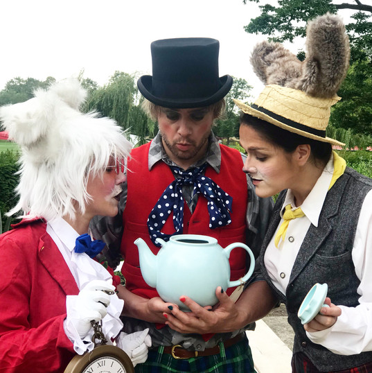 Mad Hatter, White Rabbit and March Hare