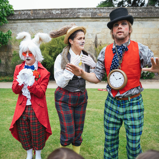 White Rabbit, March Hare, Mad Hatter