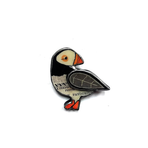 Magical Puffin Brooch