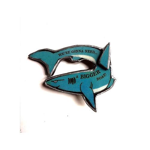 Jaws Blue Shark Brooch