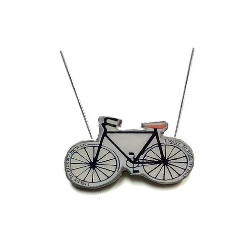 'I want to ride my bicycle' Necklace