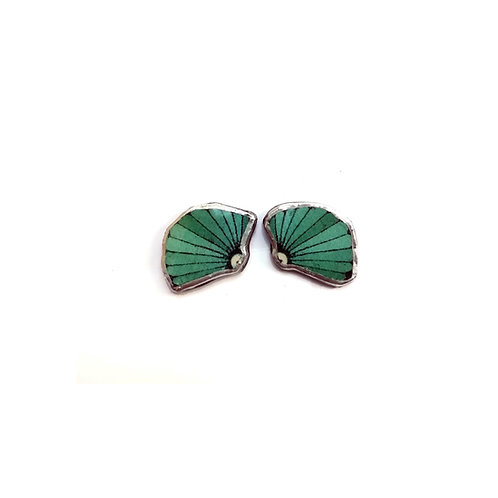 Turquoise Sea Shell Studs