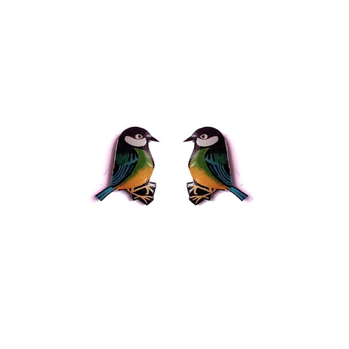Mini Blue Tit Studs