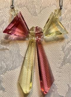 Vintage 1940's Cut Glass Pendant VN134EF20