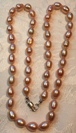 Peach Pink  Oval Teardrop Freshwater Pearls FW28S17