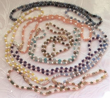 Freshwater Pearls and Mixed Semi-Precious Stones or Glass Beads  PP197S15
