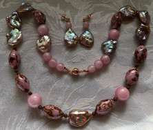 Lilac Pearls and Vintage Pink Beads PP163SE45Set