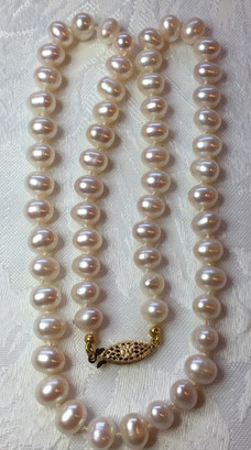 White Oval Freshwater Pearls FW35S20SET