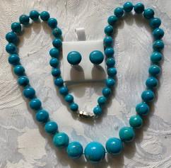 Vintage Graduated Mock Turquoise Necklace VN128EF20SET